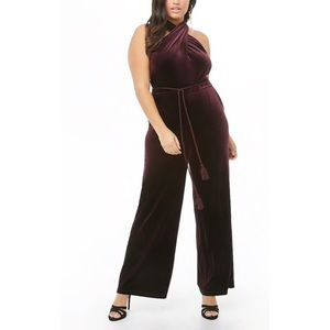 Forever 21 Suede Jumpsuit